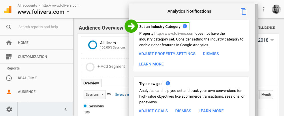 Setting the Correct Industry Category in Google Analytics