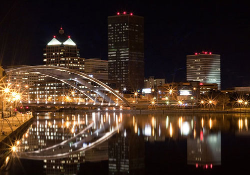 Rochester Skyline at Night